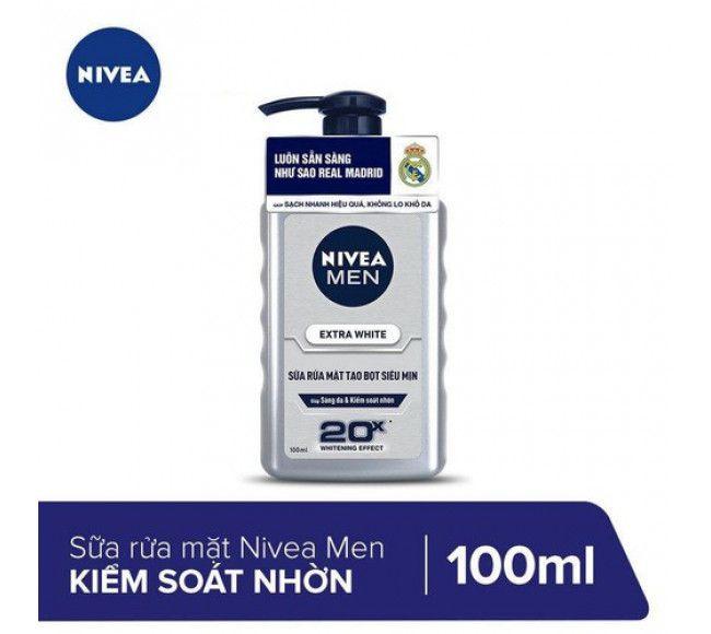 Sữa rửa mặt trắng da cho nam Nivea Men Extra White