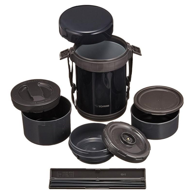 Hộp cơm giữ nhiệt 3 ngăn Zojirushi ZOCM-SL-GG18-BD (1,3L)