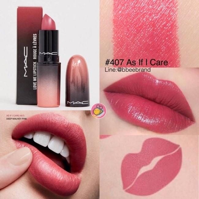 MAC Love Me Lipstick As If I Care 407 hồng đất nữ tính