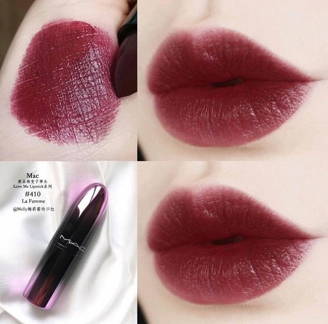 MAC Love Me Lipstick La Femme 410 đỏ rượu vang quyến rũ