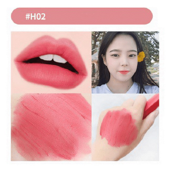 Son kem Black Rouge Color Lock Heart Tint H02 Adorable Rose