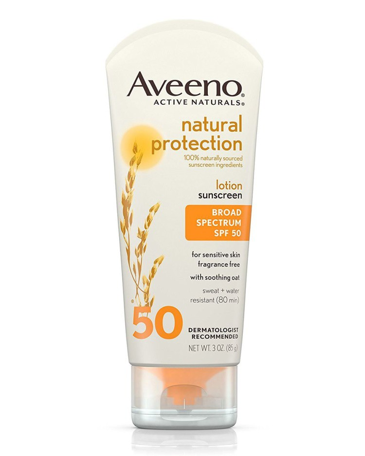 Kem chống nắng Aveeno Natural Protection Oil-Free Mineral Sunscreen Lotion, SPF 50 Sun Protection for Sensitive Skin