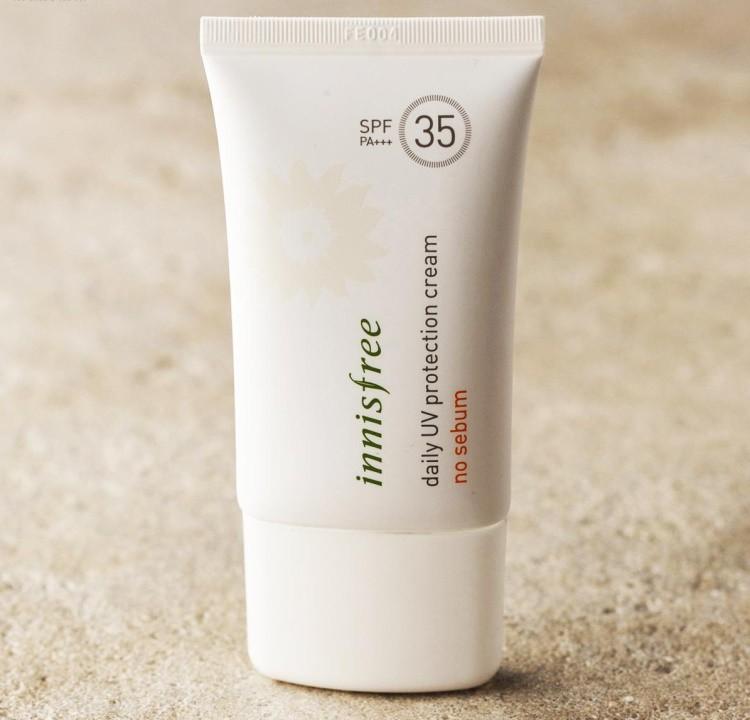 Kem Chống Nắng vật lý Innisfree Daily UV Protection Cream No Sebum SPF35 PA+++