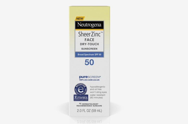 Kem Chống Nắng Neutrogena Sheer Zinc Face Dry-Touch Sunscreen Broad Spectrum SPF 50 (59mL)