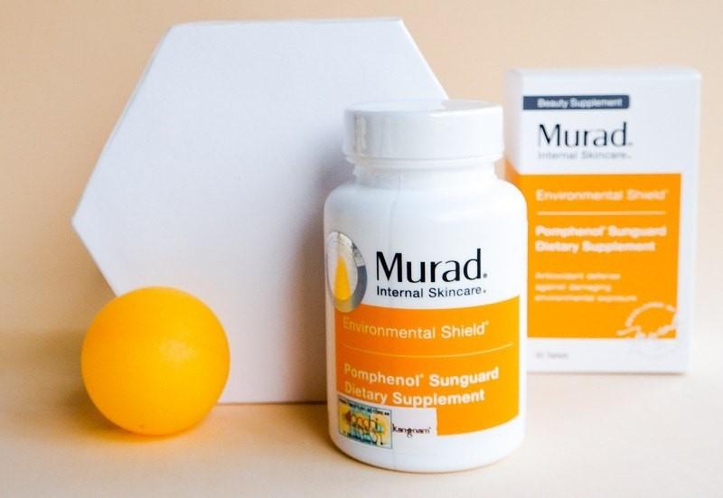 Bao bì và thiết kế viên uống chống nắng Murad Pomphenol Sunguard Dietary Supplement