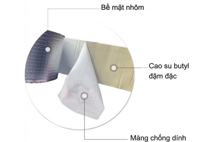 Cấu tạo băng keo chống thấm siêu dính