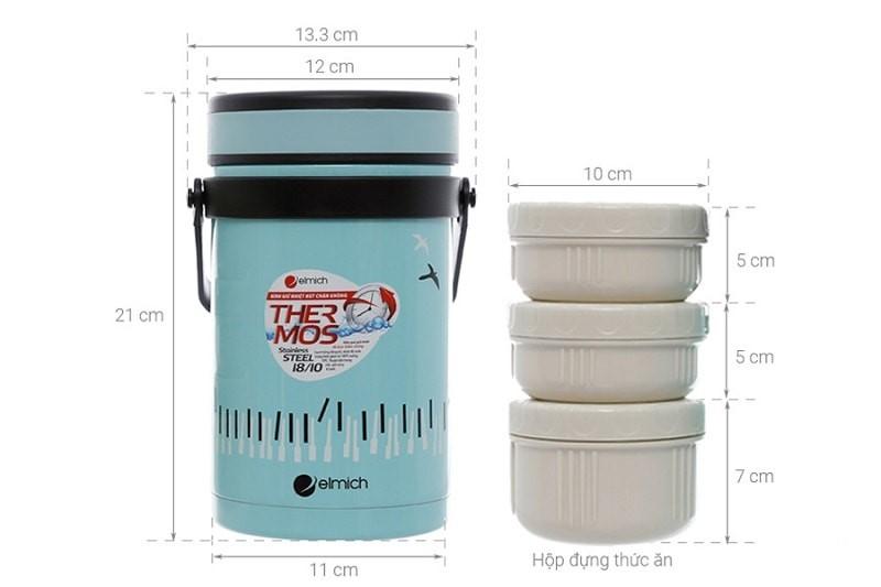 Bình đựng thức ăn giữ nhiệt Elmich EL-7284 1500ml