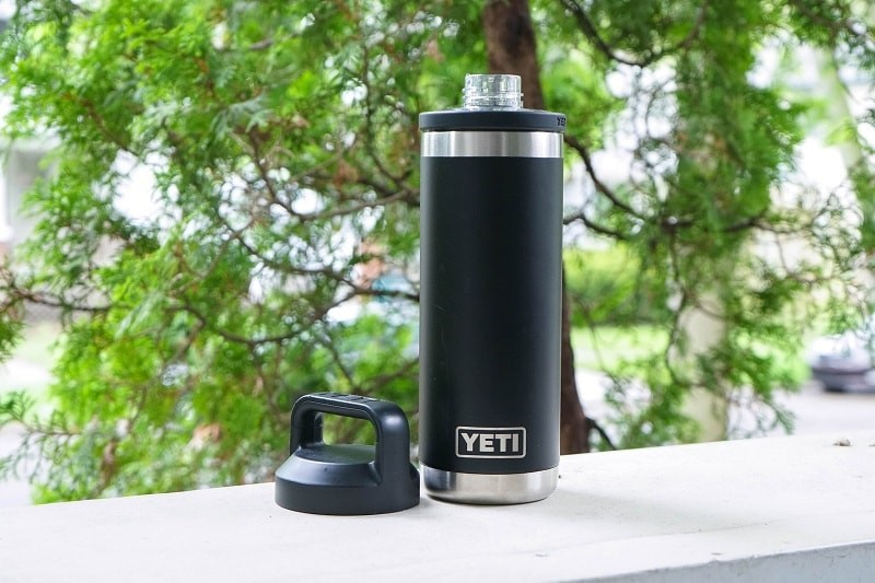 Bình giữ nhiệt YETI Rambler 18 oz Bottle Vacuum Insulated, Stainless Steel with Chug Cap