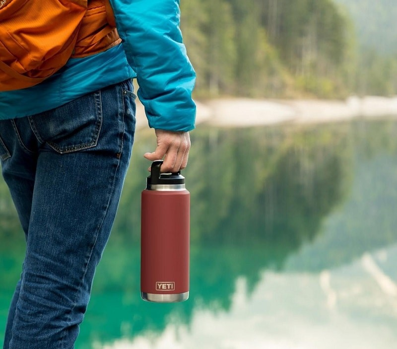 Bình giữ nhiệt YETI Rambler 26 oz Bottle, Vacuum Insulated, Stainless Steel with TripleHaul Cap