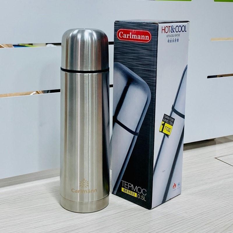 Bình nước giữ nhiệt Carlmann BES523 Inox 500ml giá rẻ