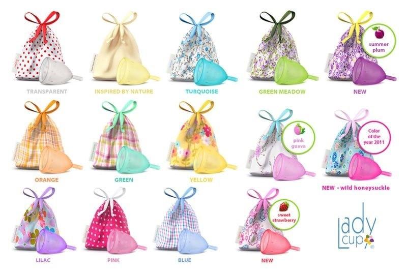 Cốc nguyệt san LadyCup có đến 13 lựa chọn màu sắc