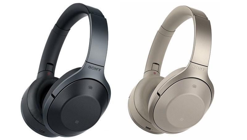 Tai nghe chụp tai bluetooth Sony MDR-1000X với hai lựa chọn màu đen-nude