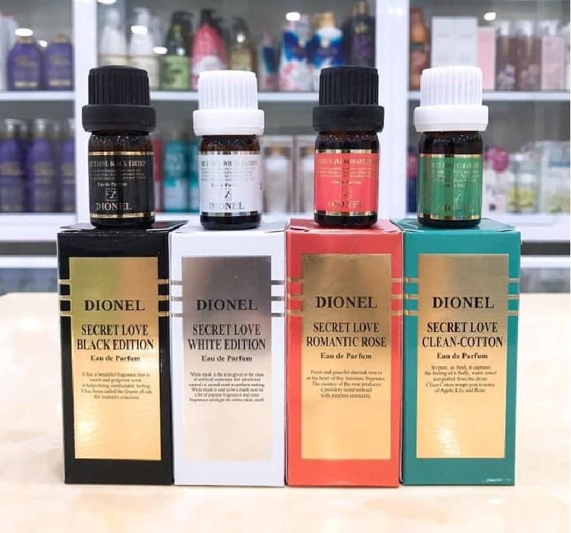 Nước hoa vùng kín Dionel có 4 phiên bản mùi hương