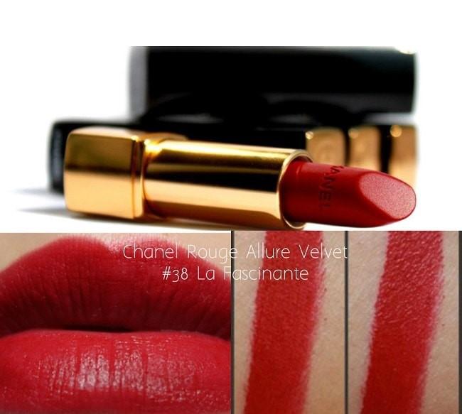 Son Chanel 38 La Fascinante Rouge Allure Velvet đỏ tươi rạng rỡ