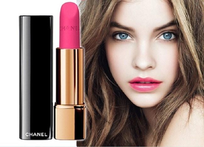 Son Chanel 42 Leclatante Rouge Allure Velvet màu hồng baby