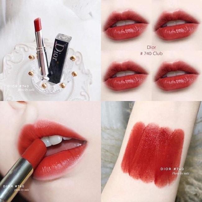 Son Dior Addict Lipstick Lacquer Stick 740 Club màu cam gạch pha đỏ