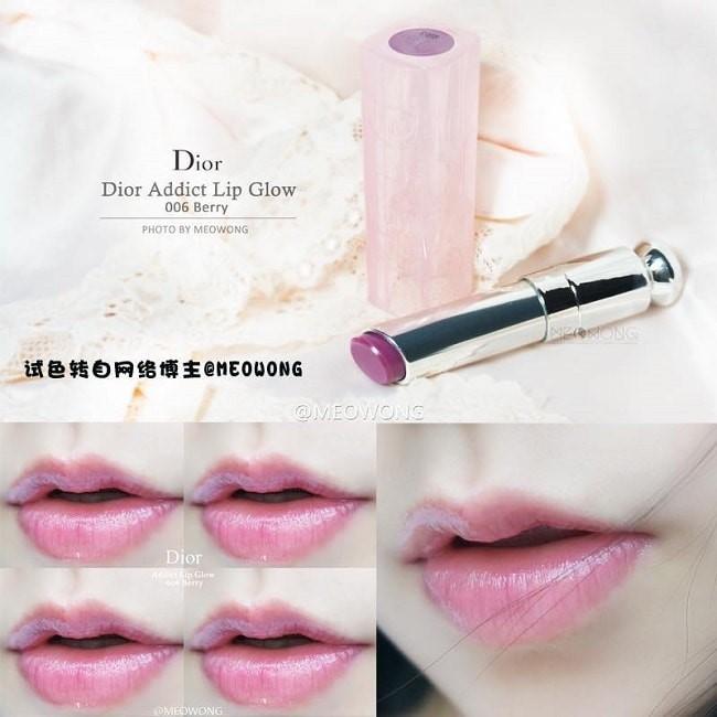 Dior Addict Lip Glow 006 Berry sở hữu màu đỏ tím mận thời trang
