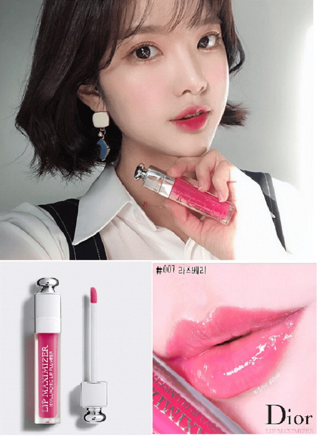 Dior Lip Maximizer 007 Raspberry phù hợp với các cô nàng ngọt ngào, nữ tính