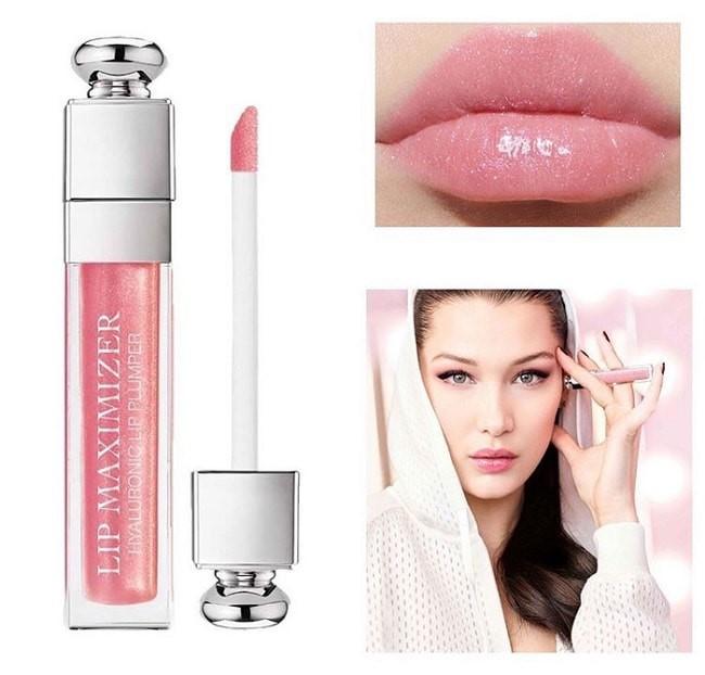 Dior Lip Maximizer 010 Holo Pink với các hạt nhũ nhỏ cho đôi môi căng mọng