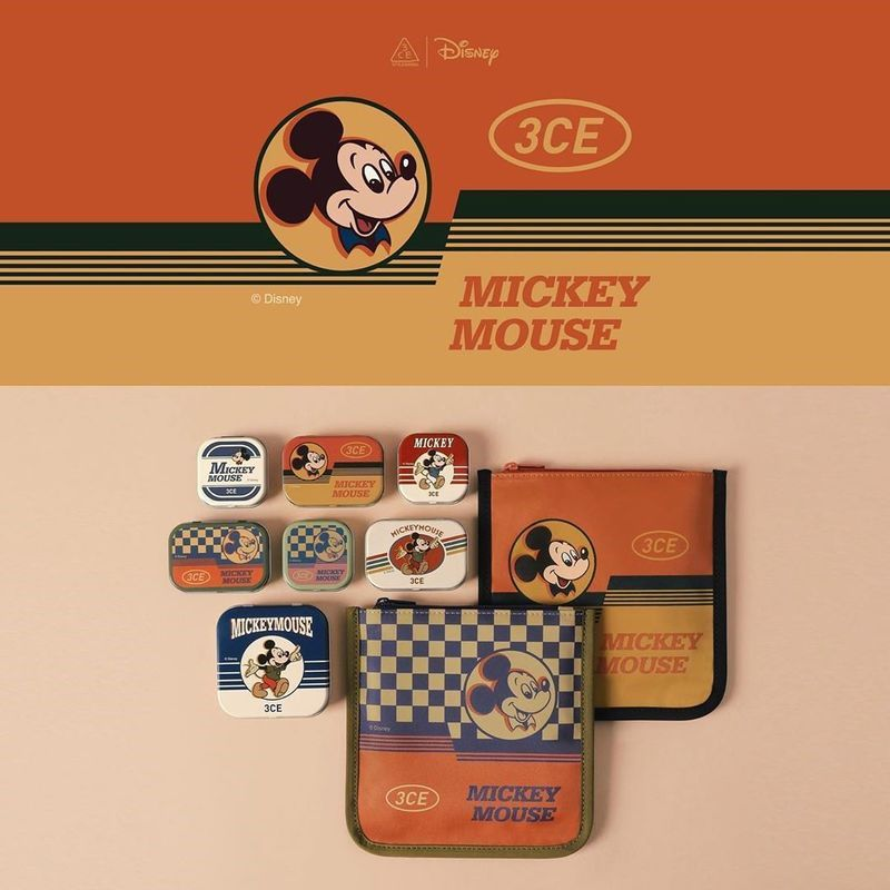 Bộ sưu tập mỹ phẩm 3CE Mickey Mouse mới