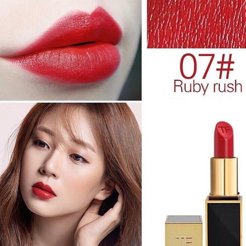 """son high end """"Nữ hoàng son đỏ"""" Tom Ford 07 Ruby Rush"""