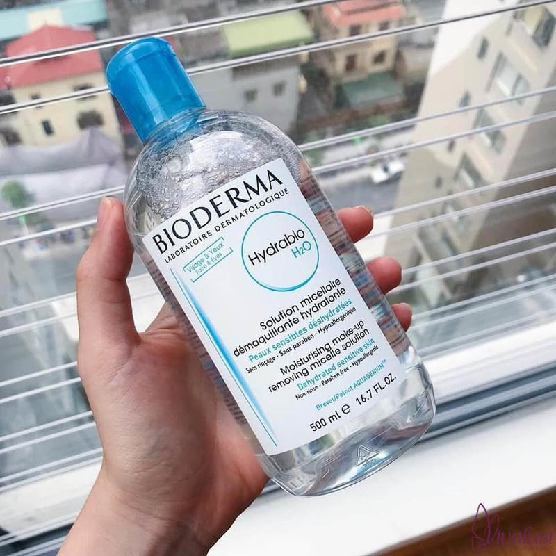 Nước tẩy trang Bioderma Hydrabio H2O cho da khô, hỗn hợp thiên khô (nắp màu xanh dương)
