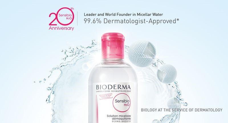 Bioderma giúp làm sạch da một cách dịu nhẹ