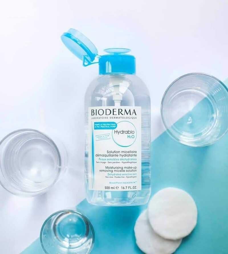 Hướng dẫn sử dụng nước tẩy trang Bioderma xanh dương cho da khô