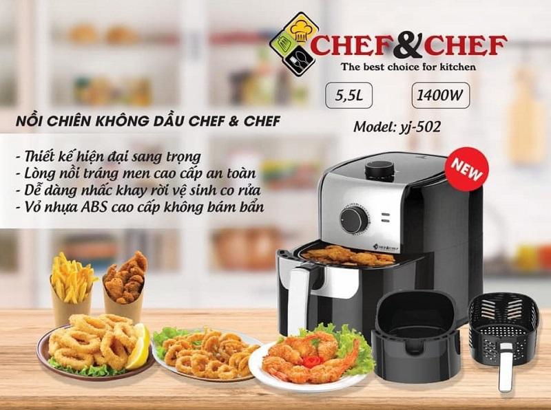 Nồi chiên không dầu Chef and Chef YJ-502