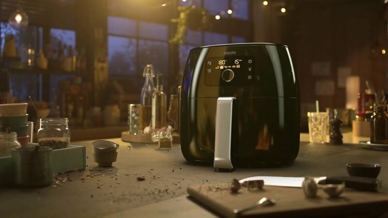 Nồi chiên không dầu Philips HD9650 sử dụng công nghệ loại bỏ chất béo
