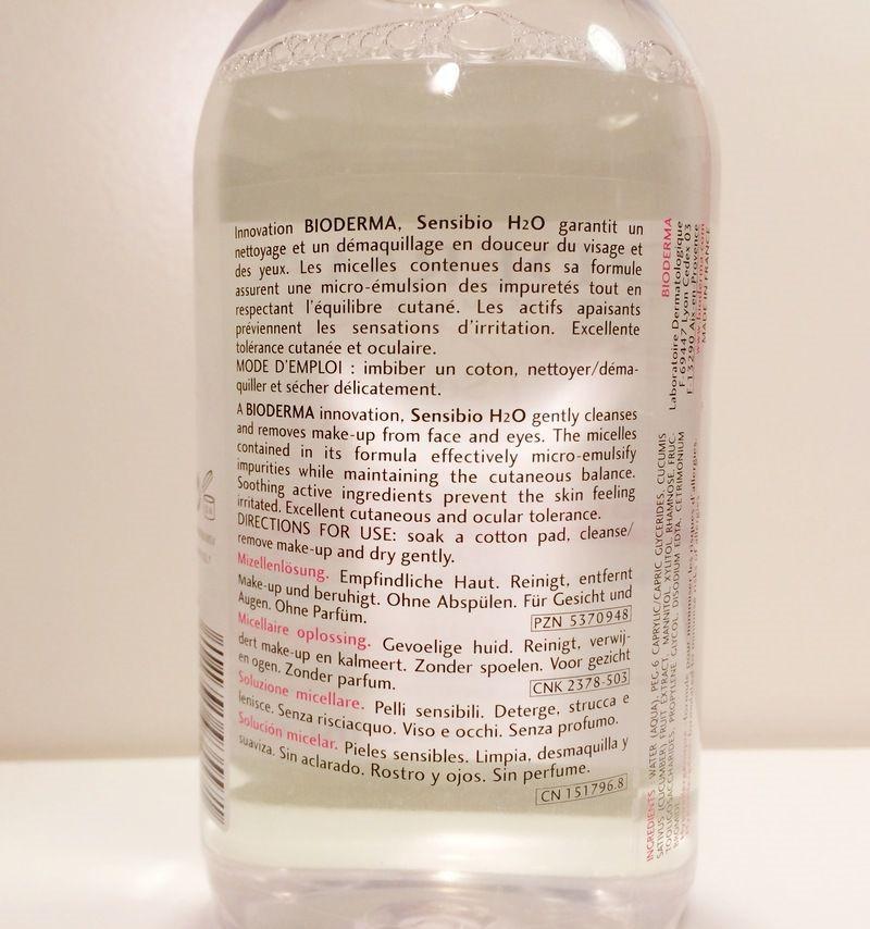 Thành phần nước tẩy trang Bioderma 500ml nắp hồng
