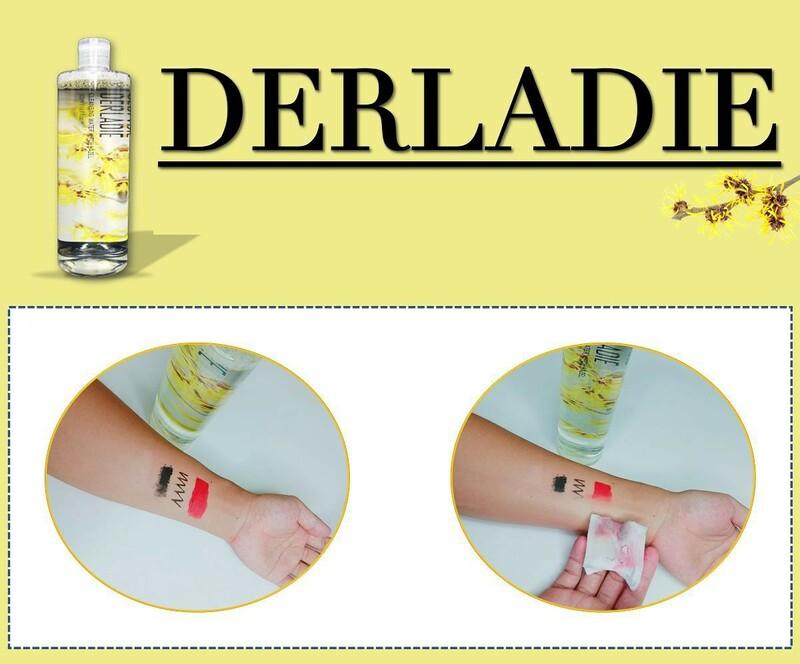 Đánh giá khả năng làm sạch của nước tẩy trang Derladie