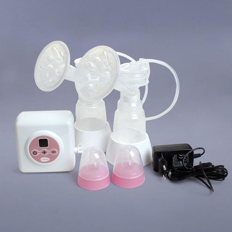 Máy hút sữa điện đôi có pin sạc Premium Allegro Unimom UM872002