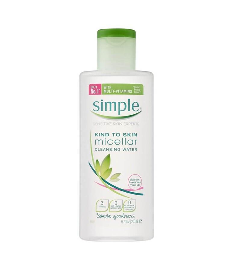 Nước tẩy trang Simple Kind to Skin (màu xanh lá) cho da nhạy cảm