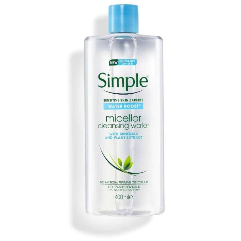 Nước tẩy trang Simple Water Boost (màu xanh dương) cho da khô