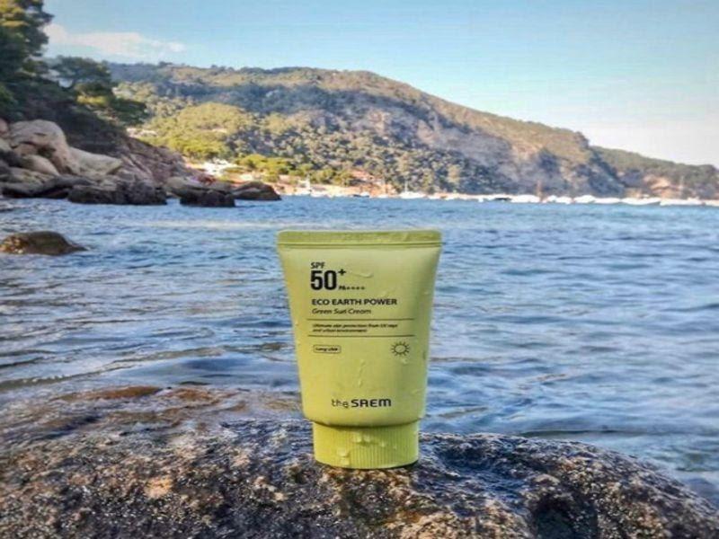 Kem chống nắng The Saem Eco Earth Power Green Sun Cream