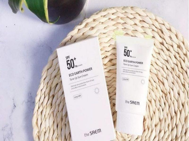 Kem chống nắng The Saem Eco Earth Power Tone Up Sun Cream