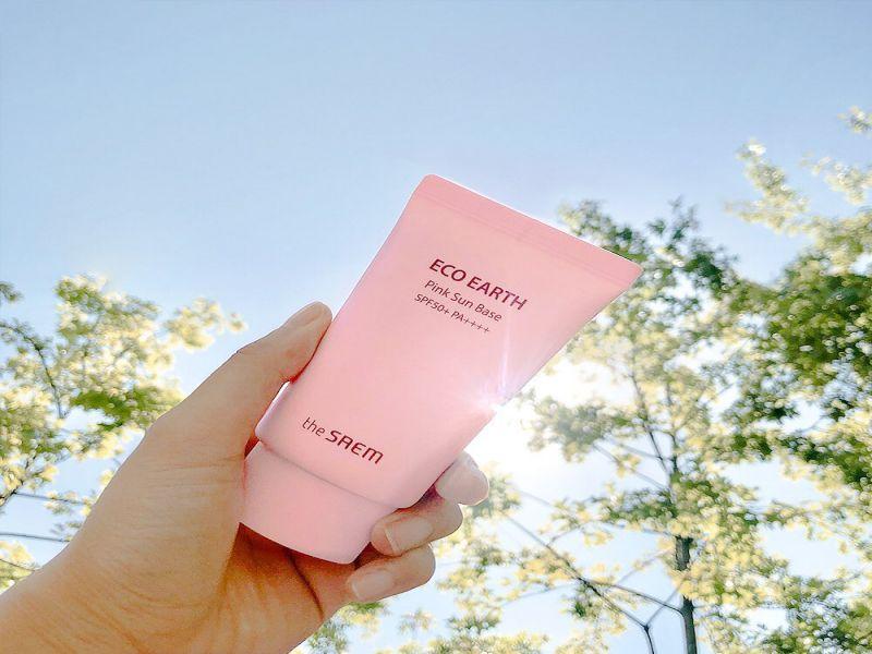 Kem chống nắng Hàn Quốc The Saem Eco Earth Power Pink Sun Cream