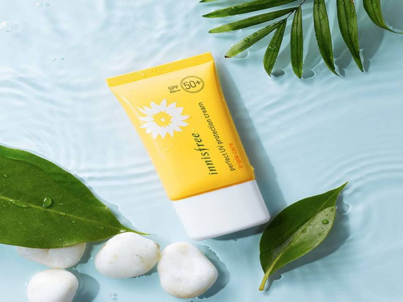 Kem chống nắng han quoc Innisfree Perfect UV Protection Cream Triple Care