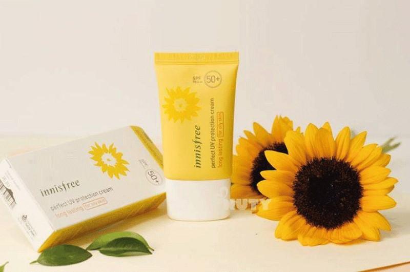 Kem chống nắng cho da khô Innisfree Perfect UV Protection Cream Long Lasting Dry Skin SPF50+