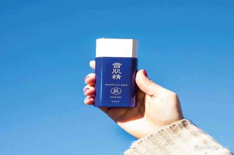 Kem chống nắng cho da khô Kose Sekkisei White UV Milk SPF 50+
