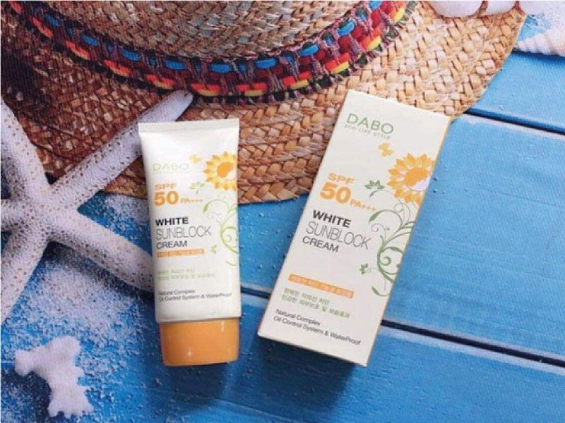 Kem chống nắng đi biển Dabo White Sunblock Cream SPF 50