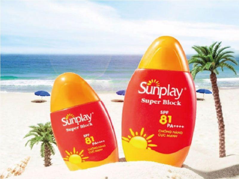 Kem chống nắng đi biển Sunplay Super Block SPF 81