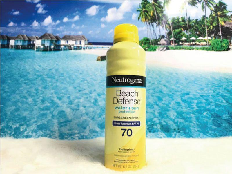 Kem chống nắng body đi biển Beach Defense Sunscreen Spray SPF 70