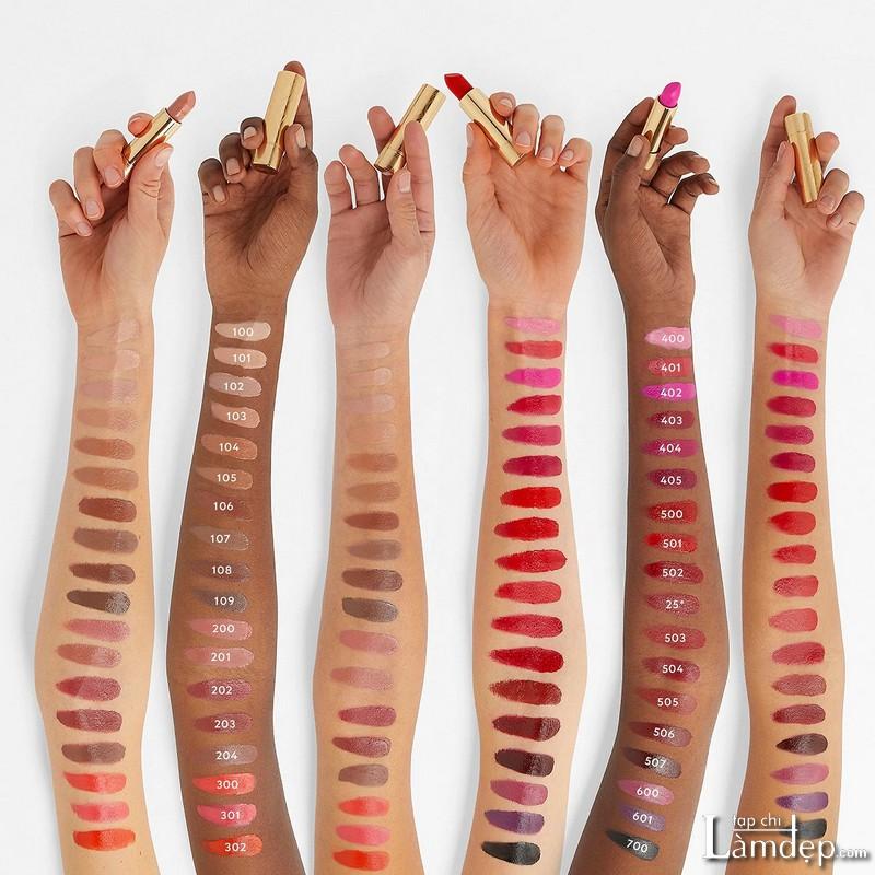 Bảng màu son Gucci Rouge à Lèvres Satin Lipstick