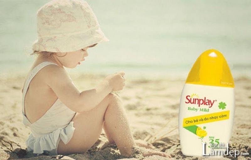 Kem chống nắng cho trẻ em của Nhật Sunplay Baby Mild