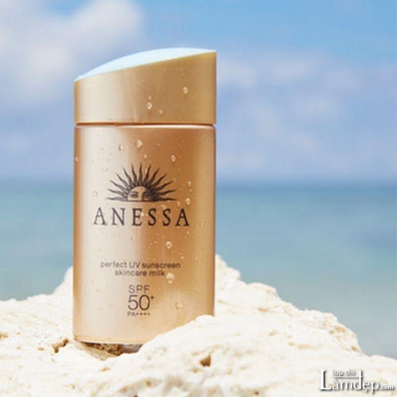 Kem chống nắng Nhật Bản Shiseido Anessa Perfect UV Sunscreen Skincare Milk