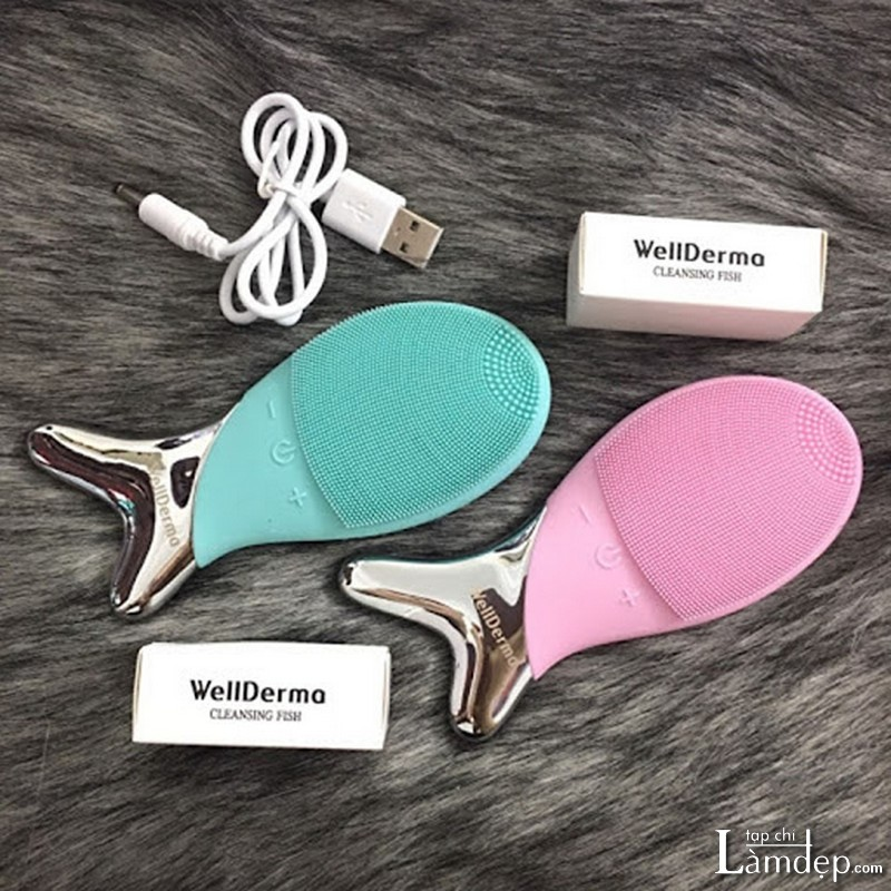 Máy rửa mặt Wellderma cách dùng