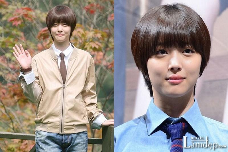 Kiểu tóc tém Tomboy Hàn Quốc Sulli F(x)