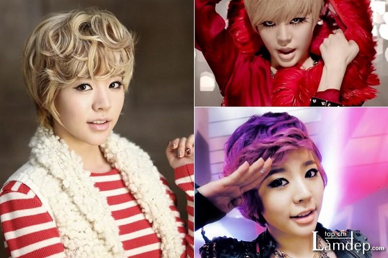 Tóc tém tomboy phong cách Sunny (Girl Generation)